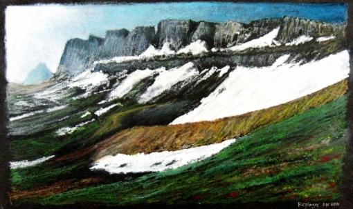 Schoolroom Glacier Oil pastel, 12 x 16 in. April 2011