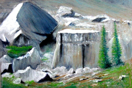 Death Canyon Shelf Oil pastel, 12 x 16 in. April 2011