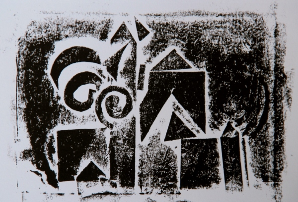 Dot Monoprint, 5 x 7 in.